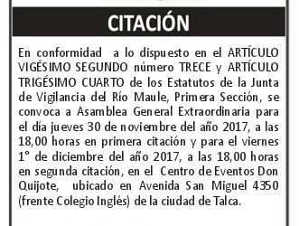 CITACIÓN ASAMBLEA EXTRAORDINARIA